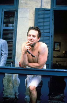 Mickey Rourke on location in New Orleans for Angel Heart (1987)