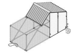 DIY chicken coop plan using PVC pipes.
