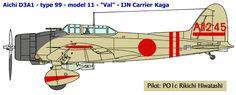 Номер: AII-245 Пилот - PO1c Рикичи Хиваташи. Авианосец Кага. Удар по базе ВМС США Перл-Харбор, 7-е декабря 1941 г.