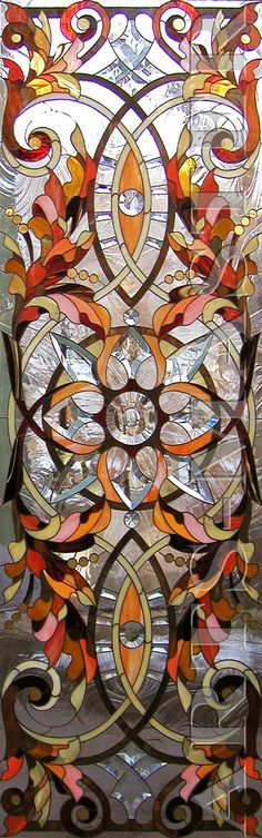 """Витражные перегородки """"Классика"""" Faux Stained Glass, Stained Glass Designs, Stained Glass Patterns, Mosaic Art, Mosaic Glass, Fused Glass, Art Nouveau, Leaded Glass Windows, Tiffany Art"""