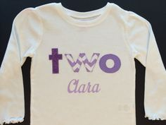 Personalized Two Second Birthday Shirt - 2nd birthday gift outfit - purple two