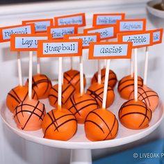 Basketball Cake Pops