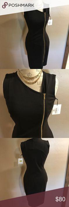 💥NWT💥 Calvin Klein Sleeveless Zip-Front Dress Brand new, with tags!! Calvin Klein sleeveless zip-front dress. Gold zipper. Size 4 Calvin Klein Dresses Midi
