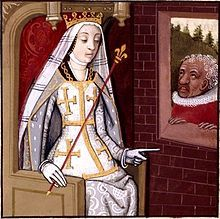 In 1382 today, Queen Joanna of Naples was assassinated in her bed at age 56. It is believed that she was killed on the orders of her niece's husband, because of her support for the Avignon Papacy. Joanna was an effective ruler for her time, and every proclamation and edict from her rule, was signed and sealed by her, despite how insignificant. She also insisted on free medical treatment for the poor and her nation was said to be ahead of its time in terms of healthcare.>>NOTE plaid head…