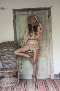 mode, boho chic, tendance, hippie chic, romantique, été