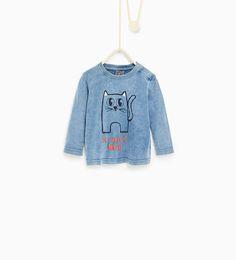 Imagem 1 de T-shirt gato da Zara