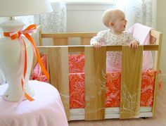 Building your own crib, hmmm. I wonder how safe this is, but so cute! Will keep S in his for now. Lol
