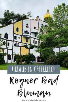 Das Rogner Bad Blumau ist eine einzigartige Anlage. Schon die Architektur vom Künstler Friedensreich Hundertwasser macht es unvergleichlich. Das Herzstück der Anlage ist die weitläufige Bade- und Thermallandschaft mit der Vulkania® Heilquelle, der heilkräftigsten Quelle in der gesamten Steiermark. Hier kann man den Urlaub in vollen Zügen genießen, egal wie das Wetter ist. www.gindeslebens.com #RognerBadBlumau #Hundertwasser #Steiermark #Österreich #UrlaubinÖsterreich #Therme #Wellness Friedensreich Hundertwasser, Hotels, Reisen In Europa, Wellness Spa, Most Beautiful Pictures, In The Heights, Cool Photos, Bad, Told You So