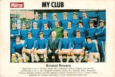Daily Mirror, My Club - Division 3 Back Row, Front Row, Bristol Rovers Fc, Typhoo, Laws Of The Game, Association Football, Most Popular Sports, Football Team, World Cup