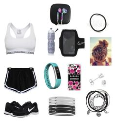 """""""Out For a Run"""" by paradise-queen on Polyvore featuring Calvin Klein, NIKE, Fitbit, Casetify, Victoria's Secret and Amanda Rose Collection"""