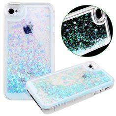 URFEDA iPhone 4/4s Case Coque Housse Etui Transparent Clair Cristal dur plastique Cover étui de protection Liquide se écoulant Bling Glitter Sparkles pour iPhone 4/4s: Amazon.fr: High-tech