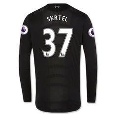 16-17 Liverpool Football Shirt Away Cheap Long Sleeve #37 SKRTEL Jersey [F450]