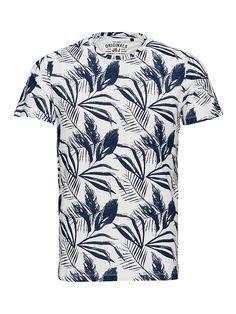Jack & Jones Blätter-Print- T-Shirt