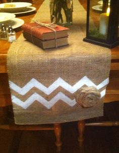 Burlap Table Runner  14 x 84 by CreativePlaces on Etsy, $13.00