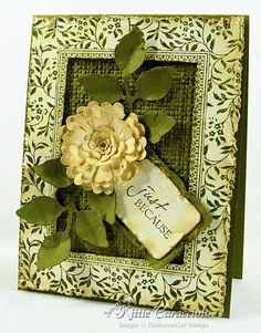 Rubber Necker Morning Glory frame stamp + flower tute