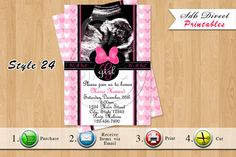 Minnie Mouse Baby Shower Invitation Minnie Mouse Baby by SDBDIRECT, $10.99
