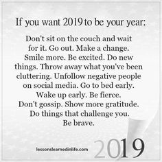 New Year Quotes : 2019 Goals. New Years Resolution. Self improvements. New Year Quotes : 2019 Goals. New Years Resolution. Self improvements. Quotes About New Year, Year Quotes, Life Quotes, Positive Life, Positive Quotes, Motivational Quotes, New Year Inspirational Quotes, Funny Quotes, Work Quotes