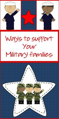 Support your military families - FREE printable This is a great activity to do during the week of Veterans Day.