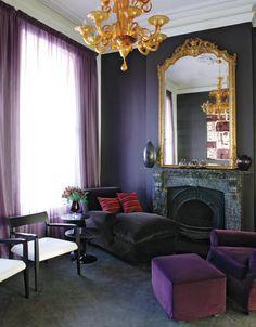 Antique and modern / Feminine interior design & decor: pink, purple, fuchsia