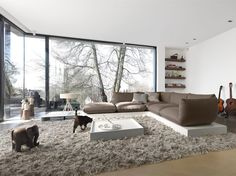 Haus Dessau Deutscher Traumhauspreis 2014: klassische Wohnzimmer von STREIF Haus GmbH