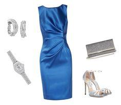 """Evening outfit"" by sophia-stremmenou on Polyvore featuring Oscar de la Renta, Jimmy Choo, Cartier and Rolex"