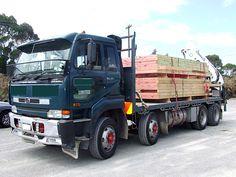 UD Nissan Diesel in New Zealand Nissan Diesel Truck, Nissan Trucks, Diesel Trucks, Road Train, Cool Trucks, Heavy Equipment, New Zealand, Rigs, Vehicles