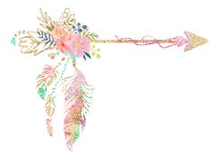Arrow style without glitter Watercolor Arrow Tattoo, Yoga Studio Design, Dream Catcher Art, Boho Baby, Nursery Design, Flower Frame, Native American Art, Watercolor Flowers, Cute Wallpapers