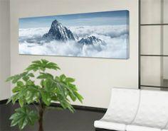 WTD 42033 Leinwandbild No.116 Die Alpen über den Wolken 120 x 40 cm: Amazon.de: Küche & Haushalt