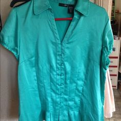 Green silk blouse It's a great blouse, good condition East 5th Tops Blouses