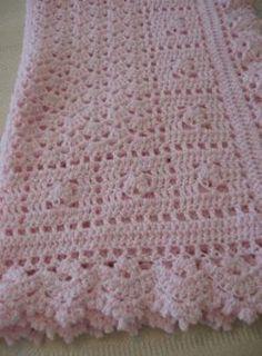 44 ideas crochet afghan beautiful baby blankets for 2019 Crochet Baby Blanket Free Pattern, Crochet Squares Afghan, Baby Afghan Crochet, Baby Afghans, Baby Girl Blankets, Baby Afghan Patterns, Crochet Patterns, Diy Crafts Crochet, Baby Shawl