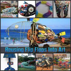 Reusing Flip Flops Into Art