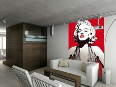 Marilyn Monroe Wallpaper Mural.  Comes in 2 easy to hang pieces.  Height 2.32m x  Width 1.58m.  Can be cut to fit smaller size.  Quick and Easy to hang.  £24.99 plus delivery.  Please shop at the link below. http://stores.ebay.co.uk/Littlebrook-Home?_rdc=1