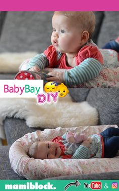 DIY Baby Bay selbstgemacht Baby Bay DIY: The cuddly Baby Bay for babies is very practical and it's super easy to design with just a few materials! Babies can sleep in the small bed, play and discover the world. Homemade Modern, Homemade Baby, Montessori Baby, Parents Room, Kids Room, Baby Toys, Invisible Stitch, Diy Bebe, Diy Clothes Videos