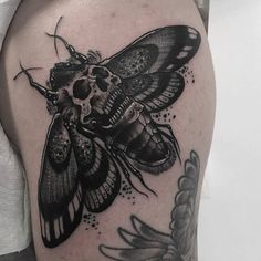 Death Moth tattoo by @neil_dransfield_tattoo at Oddfellows Tattoo Collective in Leeds U.K. #neildransfield #neildransfieldtattoo #oddfellowstattoo #oddfellowstattoocollective #leeds #uk #unitedkingdom #deathmoth #deathmothtattoo #skulltattoo #tattoo #tattoos #tattoosnob
