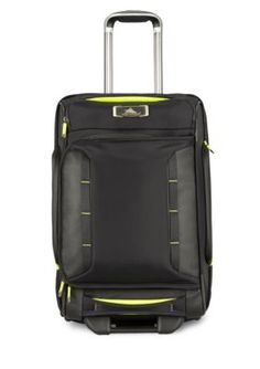 High Sierra Carry-On Wheeled Duffel Upright - Black Zest - 22 In. Luggage Store, Luggage Sets, Hard Suitcase, Warm And Cool Colors, Best Deals Online, Backpack Straps, Green Bag, Online Bags, Vegan Leather