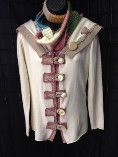 Ladies upcycled cashmere sweater by 47Sweaters on Etsy