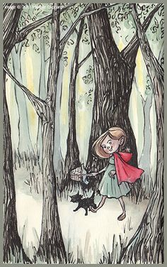 Manelle's Sketches little red riding hood #sketch #watercolor