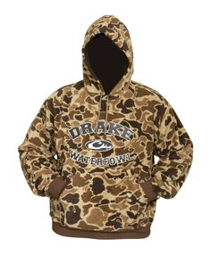 Drake Waterfowl® System Embroidered Camo Hoodie for Men | Bass Pro Shops
