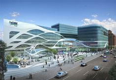 new shopping center shi shi Shopping Mall Architecture, Retail Architecture, Parametric Architecture, Organic Architecture, Commercial Architecture, Futuristic Architecture, Amazing Architecture, Architecture Design, Architecture Colleges