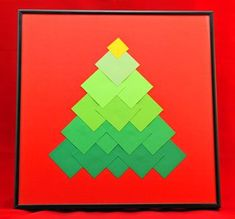 Ombre Squares Christmas Tree