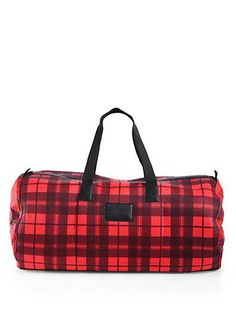 saks plaid duffle bag by marc by marc jacobs.