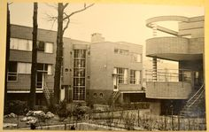 Complex Eduard Van Steenbergen - tuinzijde Tentoonstelingswijk
