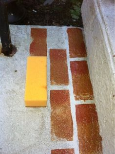 Faux Brick Floors On Pinterest Faux Brick Bricks And