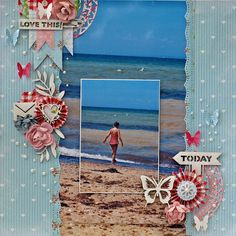 This layout used products from the new Tea Party collection from KaiserCraft. Designed by Geraldine Pasinati.