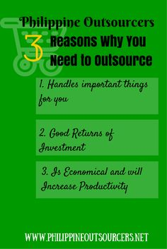 Philippine Outsourcers: 3 Reasons Why You Need to Outsource