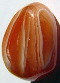 Tumble-polished carnelian stone