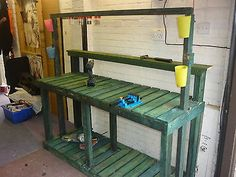 Work Bench. Garage. Greenhouse. Potting. Woodwork.storage. Shelving. Workshop