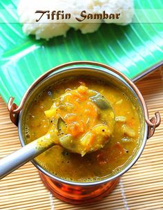 Learn how to make moong dal tiffin sambar, perfect to go with tiffin items like idli dosa upma etc. Step by step pictures post. Oats Recipes, Veg Recipes, Curry Recipes, Lunch Recipes, Indian Food Recipes, Gourmet Recipes, Vegetarian Recipes, Cooking Recipes, Healthy Recipes