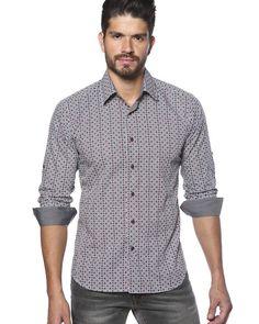 Mosaic pattern shirt for men
