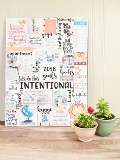 how to vision board, 2018 vision board, vision board diy